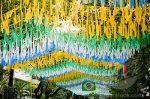 Pennants hanging in celebration, Brazil, South America